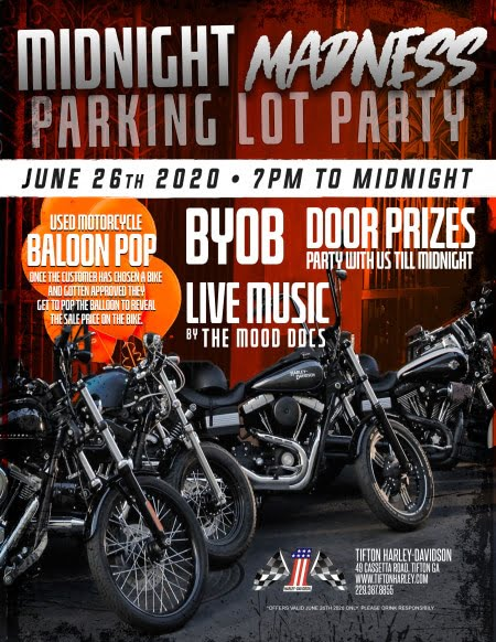Midnight Madness Parking Lot Party - Tifton Harley Davidson