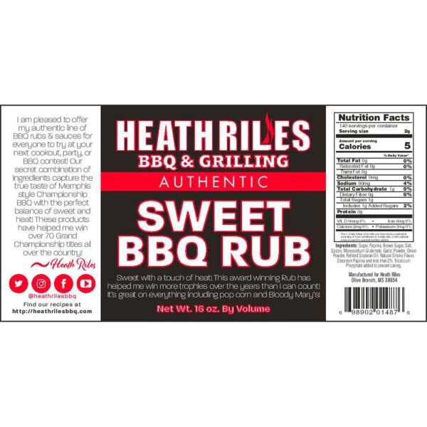 Sweet BBQ Rub Shaker